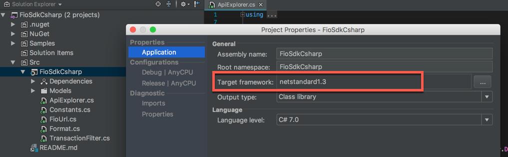 Target Framework v Rider