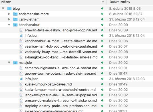 Exportované MD soubory