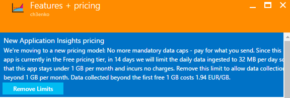 Application Insights pricing