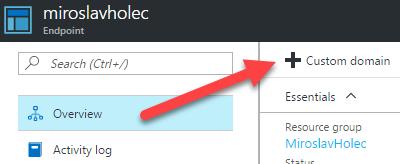 Přidání custom doményk Endpointu