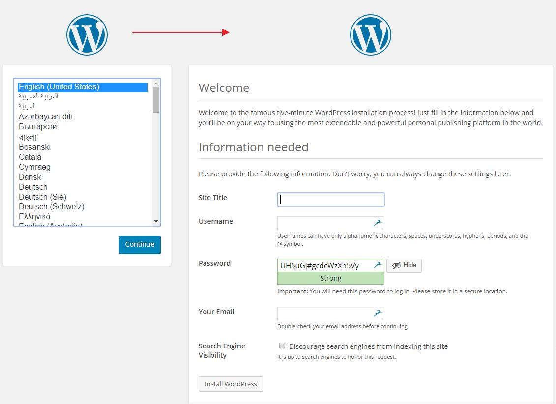 Nastavení Wordpress tránky