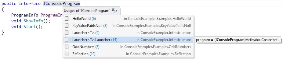 Find usages inline