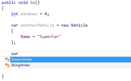 Smart IntelliSense