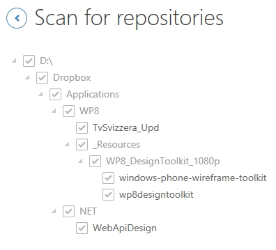 Scan for repositories