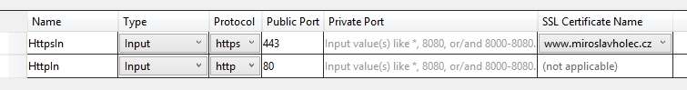 Nastavení endpointů v .NET aplikaci