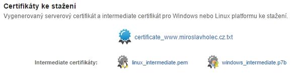 Certifikát p7b ke stažení