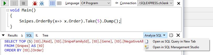 Generování SQL dotazu