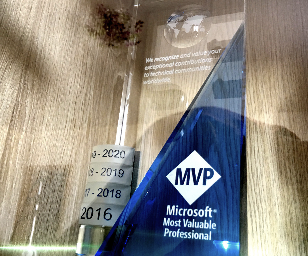 Microsoft MVP od roku 2016