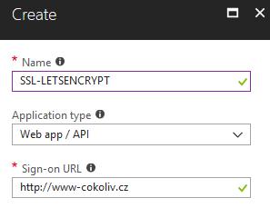 Vytvoření App Registration