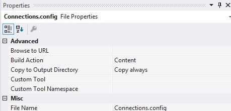 Nastavení vlastností XML souboru