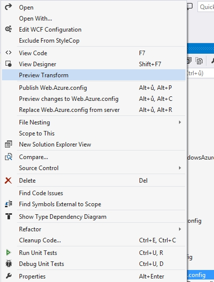 Visual Studio Preview Transform