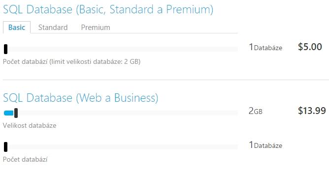 Porovnání cen Web a Basic edice